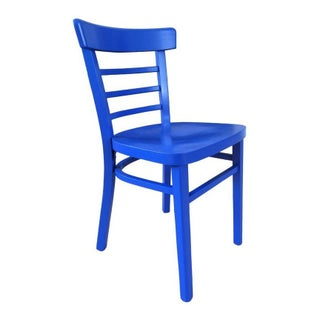 Vintage Cafe Chair in Vibrant Blue