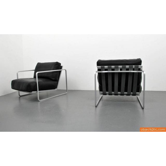 Pair of Zonatta Leather Lounge Chairs by Alfredo W. Häberli & Christophe Marchand - Image 6 of 8
