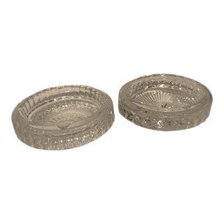 Waterford Crystal Ashtrays - A Pair
