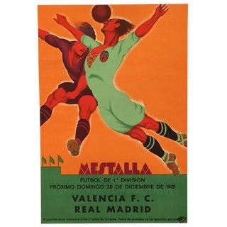Original Vintage 1931 Spain Soccer Poster
