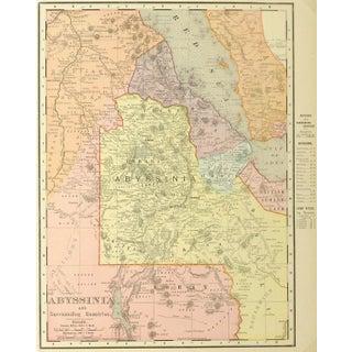 Antique Map of Ethiopia 1895