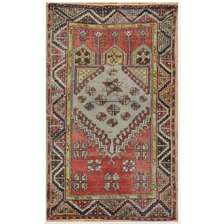 Vintage Small Handmade Tribal Rug - 3'3'' x 5'7''
