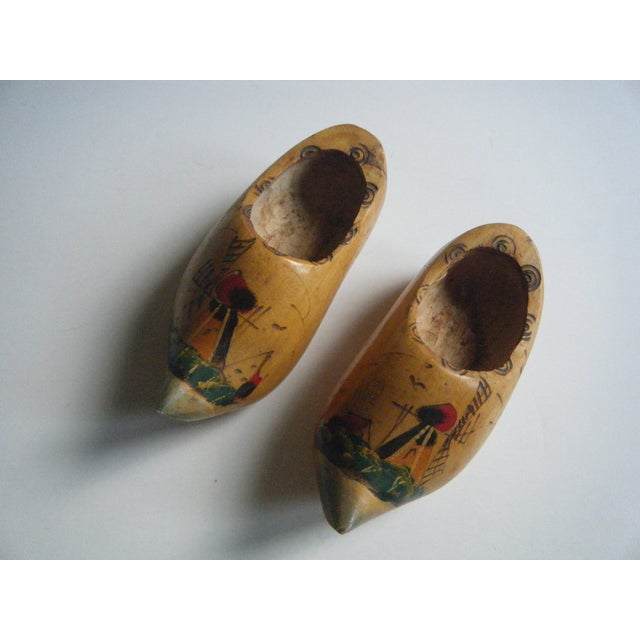 Miniature Wooden Shoes From Holland - a Pair - Image 2 of 4