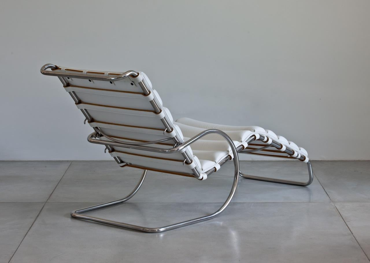 lovely mies van der rohe mr chaise lounge for knoll | decaso