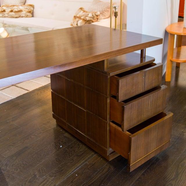Image of Paul Frankl Vintage Machine Age Walnut Desk