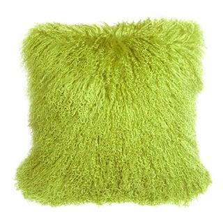 Mongolian Green Sheepskin Pillow