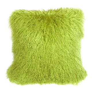 Mongolian Green Sheepskin Pillow