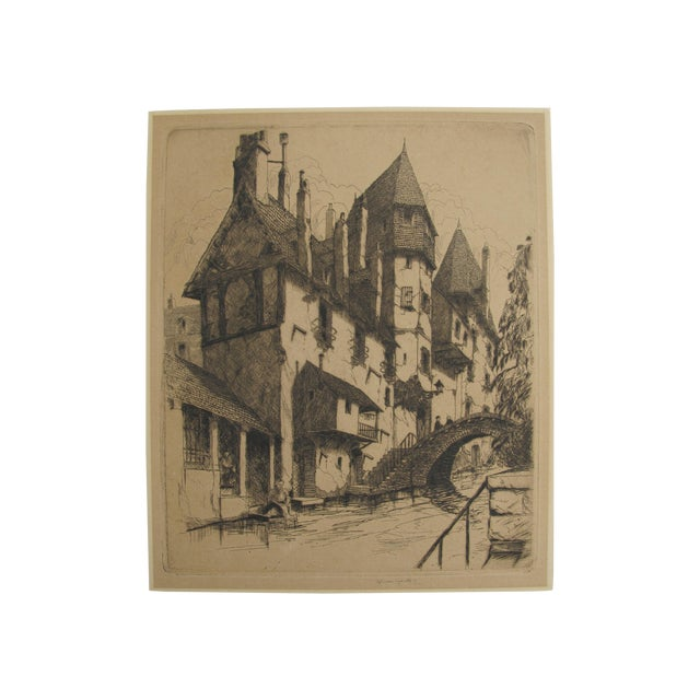 Gables and Chimneys, John McGrath Etching - Image 1 of 5