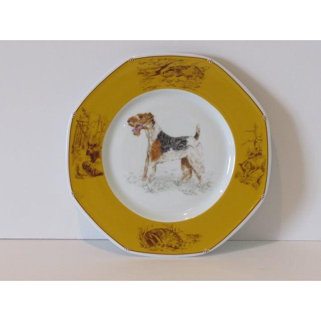 Hermes Decorative Fox Terrier Motif Plate - Image 2 of 5