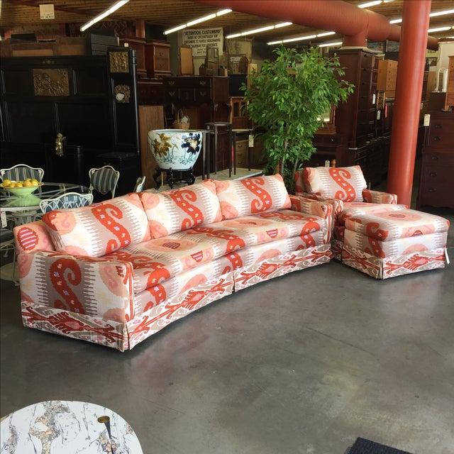 Martin Brattrud Ikat Sofa - Image 2 of 9
