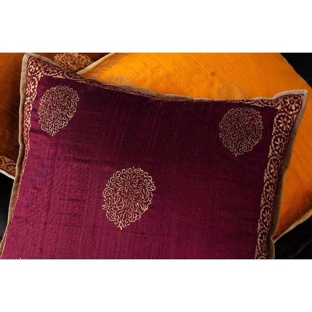 Luxury Silk Blockprinted Decorative Pillow Chairish