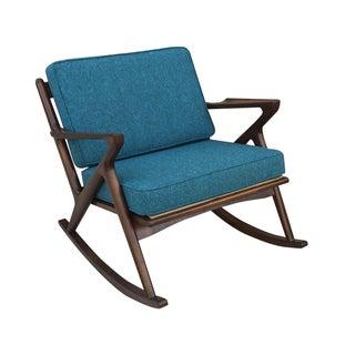 "Mid-Century Custom "" Z "" Rocking Chair"