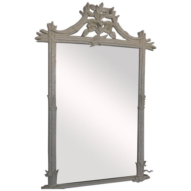 Image of White Hollywood Regency Mirror