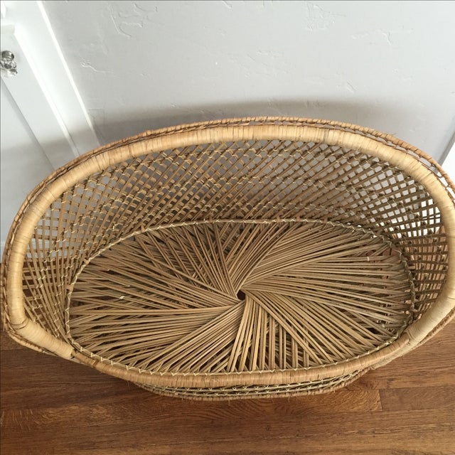 Vintage Child's Wicker Bench - Image 3 of 6