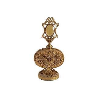 Mid-Century Gold Filigree Perfume Bottle