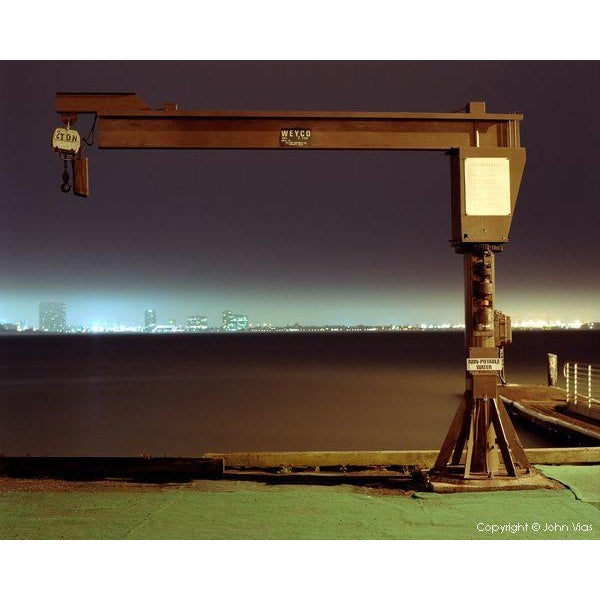 """Image of """"Large Boat Winch"""" - Night Photograph by John Vias"""