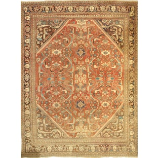 Pasargad NY Antique Persian Mahal Lamb's Wool Rug - 9' x 12'2""