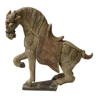 Chinese Pottery Clay Ancient Style Rustic Horse Figure
