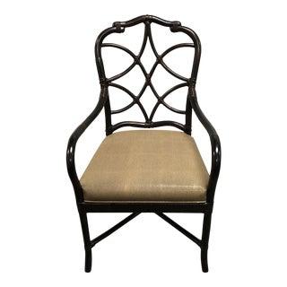 Palecek Rattan Frame Arm Chair