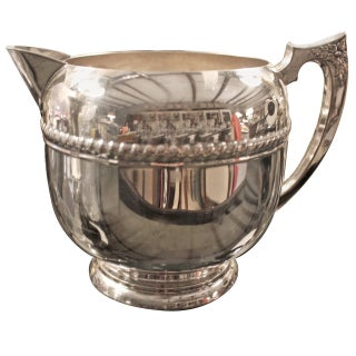 English Early 20th Century Silver Plated Pitcher
