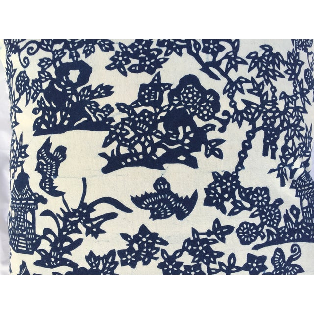 Blue & White Chinoiserie Pillows - A Pair - Image 7 of 9