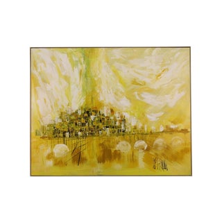 Lee Reynolds Abstract Cityscape Van Guard Painting