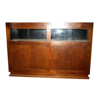 Walnut Showcase With Front Cabinets