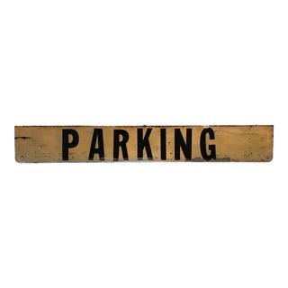 Vintage 1970s Parking Sign