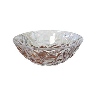 Vintage Tiffany Crystal Glass Bowl Faceted