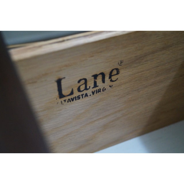 Vintage Lane Campaign Style Walnut Tall Chest - Image 9 of 10