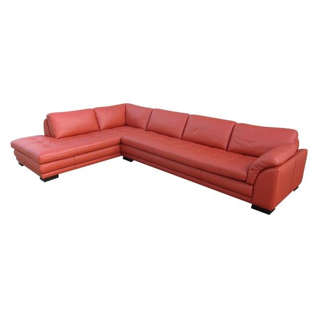 Roche Bobois Sunset Orange Sectional Sofa - Image 1 of 9