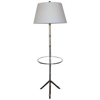 Faux Bamboo Chrome Floor Lamp