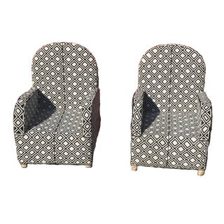 African Glass Beaded Chairs - A Pair