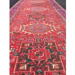 "Image of Vintage Heriz Persian Red Runner - 4'6"" x 12'3"""