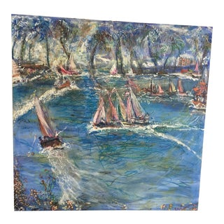 Pascal Cucaro Sail Across the Water Oil on Canvas