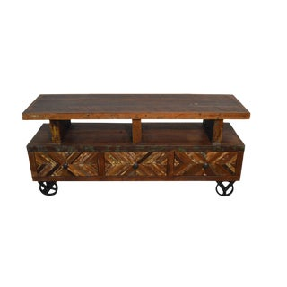 Distressed Reclaimed Wood TV Stand