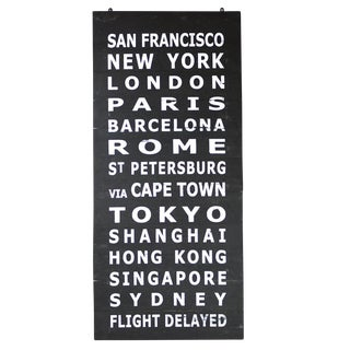 Hand Painted Wooden Travel Sign