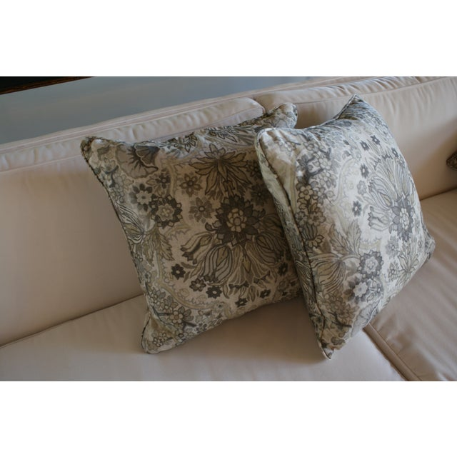 Lee Jofa Grey/Bisque Tetbury Pillow Cover - Image 4 of 6