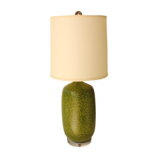 "Avocado ""Orange Peel"" Textured Table Lamp"