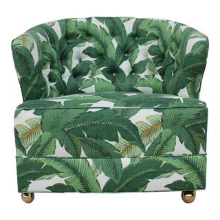 C. 1940s Tufted Palm Leaves Chair