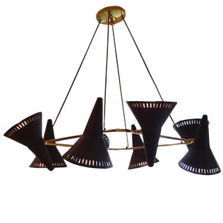 Eight-Light Mid Century Chandelier by C.G.M.E Italy circa 1960