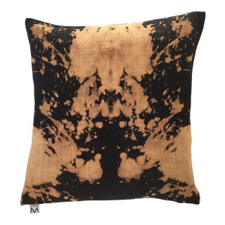 """20"""" Abstract Hand Dyed Linen Pillow"""