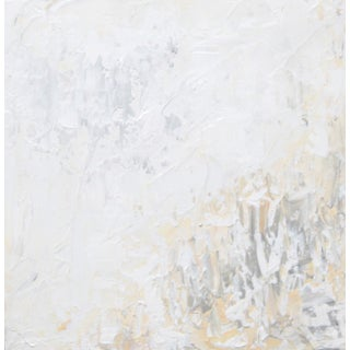 Abstract C. Plowden White Beige Cream Gray Textured Painting