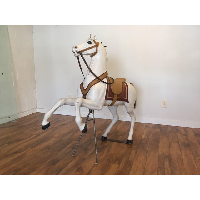 Antique Carved Wood Carousel Horse - Image 6 of 11
