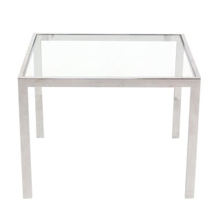 Chrome and Glass Mid-Century Modern Side Table