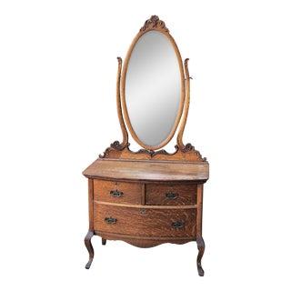 Vintage Princess Dresser With Mirror