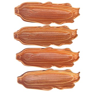 Corn on the Cob Serving Dishes - Set of 4