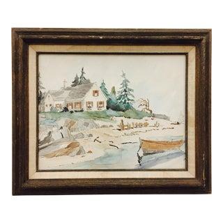 Vintage Framed Coastal Scene