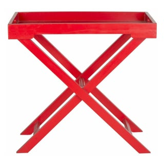 Accent Tray Table in Red