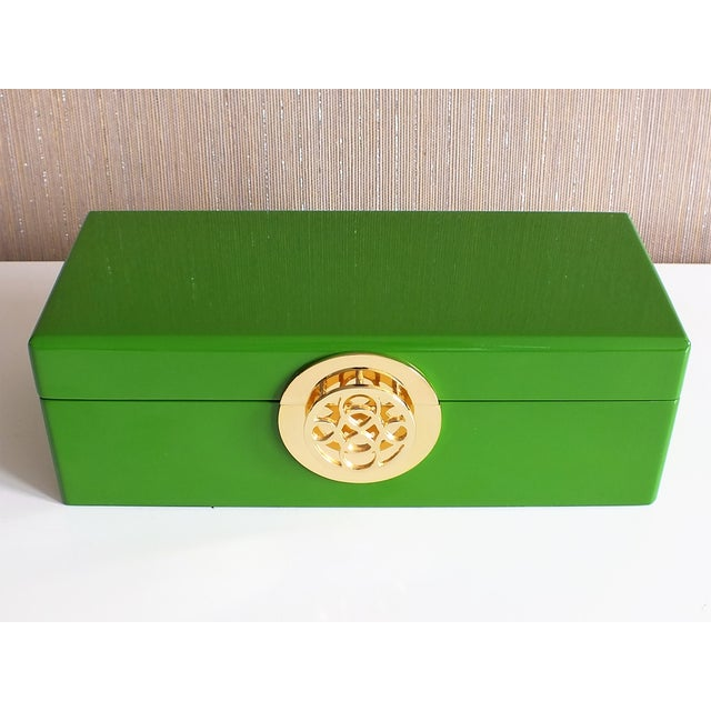 Image of C. Wonder Apple Green Lacquered Dresser Box